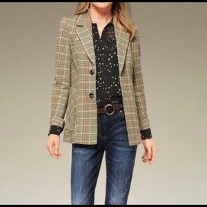 Cabi Pastime Jacket Multicolor Plaid Style 3548